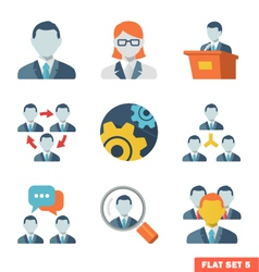 Business people flat icons vector