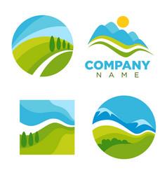 abstract nature logos vector image