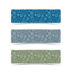 gear patterns banners set vector image