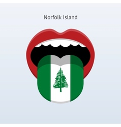 Norfolk island language abstract human tongue vector