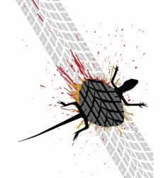 roadkill vector image