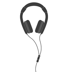 Black headphones vector