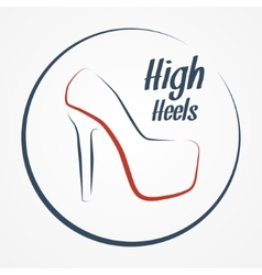 High heels logo vector