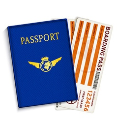 Airline passenger boarding pass tickets vector image