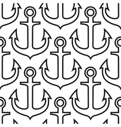 Retro ship anchors seamless pattern vector