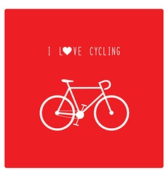 I love cycling vector