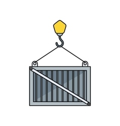Load container icon design style vector