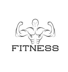 Bodybuilder Fitness Model silhouette design vector image
