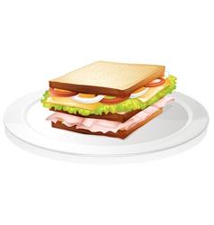 bread sandwich vector image vector image
