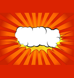 bright abstract pop art comic book splash cloud vector image