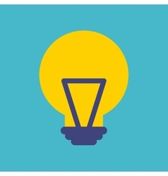 Bulb light flat isolated icon vector