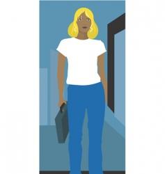businesswoman walking vector image