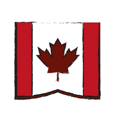 canadian cartoon flat draw vector image vector image