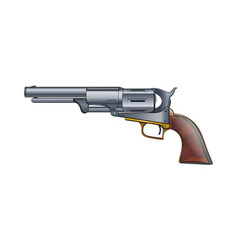 Colt revolver pistol on white background vector