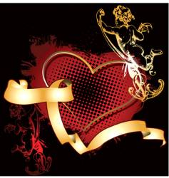 cupid heart vector image vector image