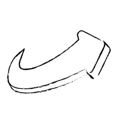 Curved arrow icon image vector