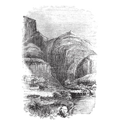 Delphi Greece vintage engraving vector image