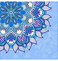 floral blue pattern in ukrainian oriental ethnic vector image