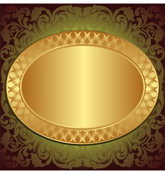 gold end brown background vector image vector image