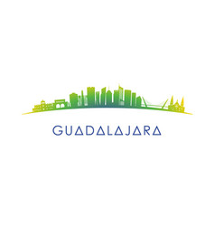 Guadalajara mexico skyline silhouette vector