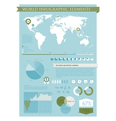 Information graphics green vector