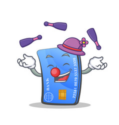 Juggling credit card character cartoon vector
