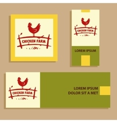 Logo hand drawn hen internet banner for vector
