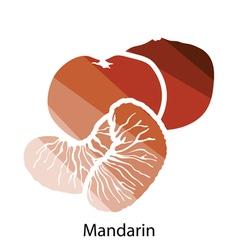 Mandarin icon vector image vector image