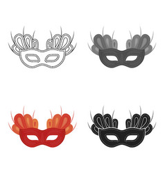 Mask icon in cartoon style isolated on white vector