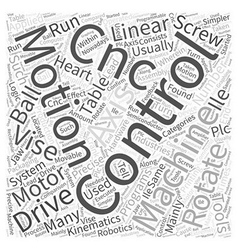 Motion control the heart of cnc word cloud concept vector