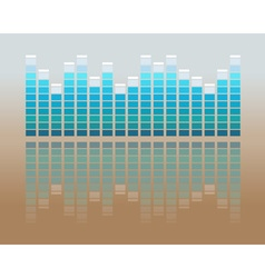 music volume flat background vector image