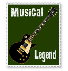 Musical stamp vector