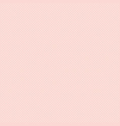 Polka dot seamless pattern white dots on pink vector