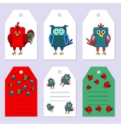 Set gift tags Stock set of children s vector image vector image