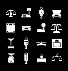 Set icons of weights and scales vector image vector image