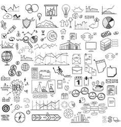 set of web icons for business finance and vector image vector image
