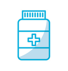 shadow pill bottle vector image