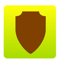 shield sign brown icon at vector image