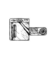 swivel lens camera vector image vector image