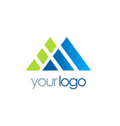 triangle shape company logo vector image