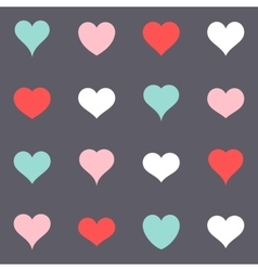 Various simple colorful heart icons vector image vector image