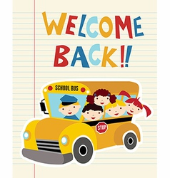 Welcome Back to School bus vector image