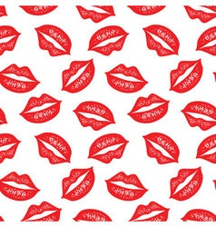 seamless pattern with colorful lips Repeating vector image