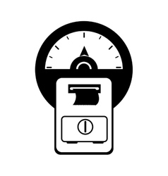 Car meter parking vector