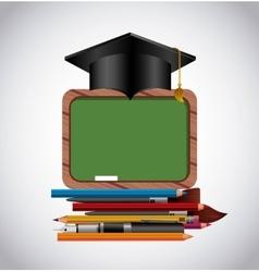 School supplies study icon vector