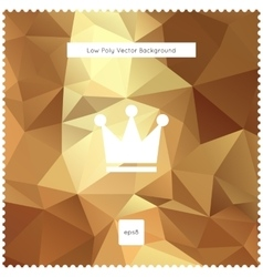 Abstract gold polygonal background vector image