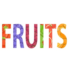 Juicy fresh fruit word vector