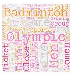Sports and the oylmpics text background wordcloud vector