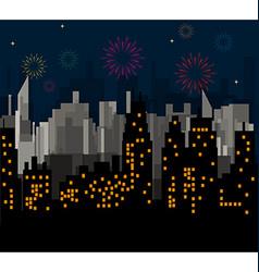 Night city celebrates vector