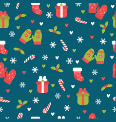 Cute christmas seamless pattern christmas and new vector